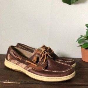 Sperry Topsider plaid boat shoe size 9.5